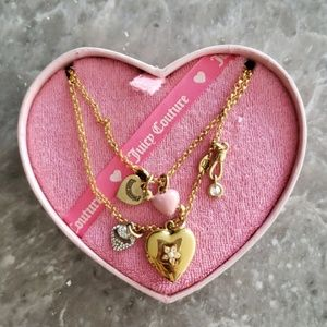 JUICY COUTURE Heart Multi- Charms Necklace